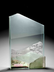 Landscape, Assemblage, Glass and wax, 2012, 60X40X10 cm
