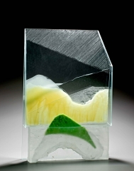 Landscape, Assemblage, Glass and wax, 2012, 60X40X20 cm