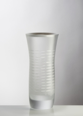 With calm, 2017, Mold melted glass, 60X20 cm