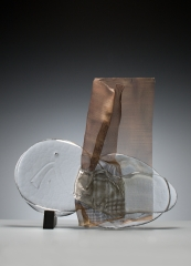 Fusion, 2013, Glass and stell, 50X60X15 cm